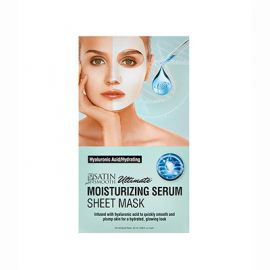 Satin Smooth, Moisturizing Serum Sheet Mask, Hyaluronic Acid/Hydrating, 1 Pc